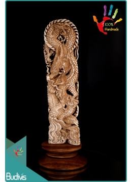 Top Model Hand Carved Bone Scenery Dragon Ornament Best Seller