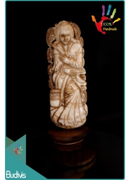 Bali Goddess Hand Carved Bone Scenery Ornament Top Selling