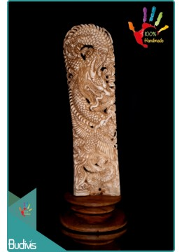 Bali Hand Carved Bone Dragon Scenery Ornament Top Selling
