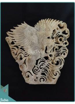 Flying Pegasus Scenery Bone Carving Ornament