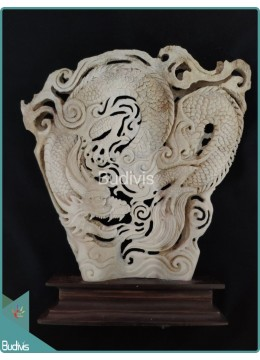 Chinese Dragon Bone Carving Ornament