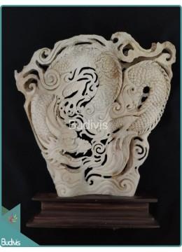 Chinese Dragon Bone Carving Ornament