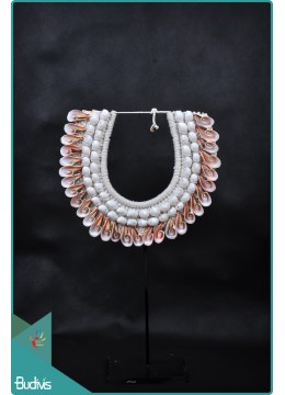Bali Tribal Necklace Shell Decorative On Stand Home Decor Interior