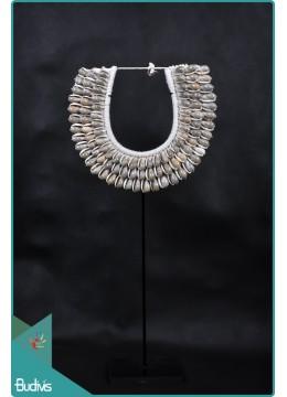 Boho Tribal Necklace Shell Decorative On Stand Decor Interior