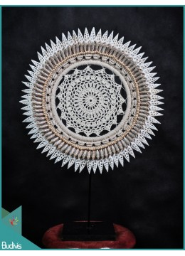 Tribal Necklace Shell Decorative Macrame On Stand Interior