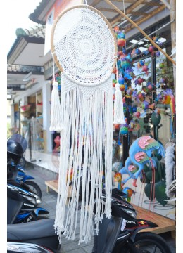 Curtain wall hanging macrame
