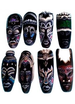 Ethnic Mask Glass Wall Hanging