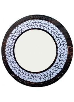 Antique Mirror Glass Circle