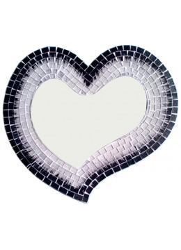 Antique Mirror Heart Glass