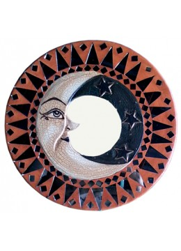 Antique Mirror Moon Circle