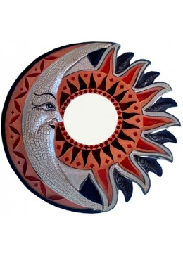 Antique Mirror Moon Oval Star