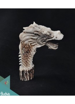 The Dragon Scenery Antler Horn Carved Handle
