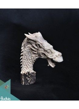 The China Dragon Scenery Antler Horn Carved Handle