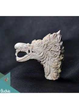 The Crown Dragon Scenery Antler Horn Carved Handle