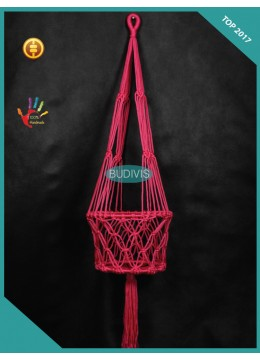 Red Extra Size Wholesale Bali Planter Hanging Macrame