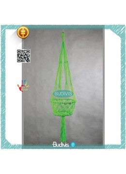Green Stabilo Bali Wholesale Plant Hanger Hanging Macrame Handmade