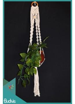 Bali Rope Handwoven Hanging Macrame Pot Planter