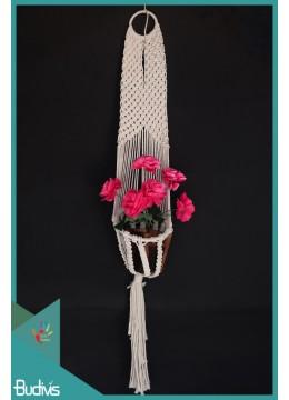 Top Model Rope Handwoven Hanging Macrame Pot Planter