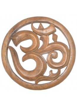 Relief Swastika Wood Carving