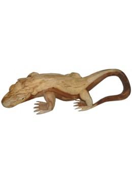 Wood Carving Komodo Statue