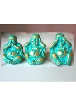 Bali Manufactured Resin Yogi Statue Set 3