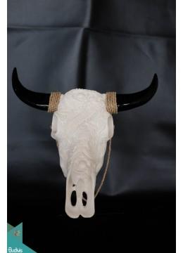 Artificial Resin Buffalo Skull Head Wall Decoration - Marta