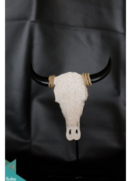 Artificial Resin Buffalo Skull Head Wall Decoration - Marta