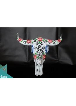 Artificial Resin Buffalo Skull Head Wall Decoration Painting - Marta