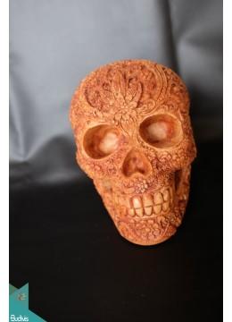 Artificial Resin Skull Head Hand Painted Wall Decoration - Marta
