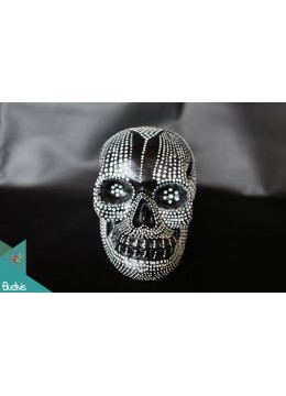 Artificial Resin Skull Head Hand Painted Wall Decoration Aburijin - Marta