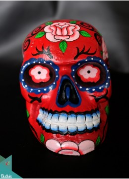 Artificial Resin Skull Head Hand Painted Wall Decoration Painting - Marta