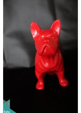 Artificial Resin France Dog Decor - Marta
