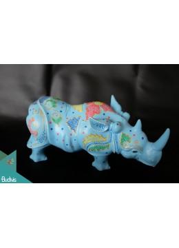 Artificial Resin Rhino Hand Painted Home Decor - Marta