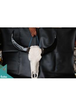 Artificial Bali Resin Skull Cow Carved Home Decor - Marta