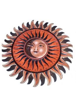 Hanging Sun Moon Glass Star