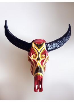 From BaliResin Buffalo Skull Wall Hanging
