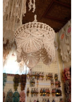 New! Boho Lamp Hanging Macrame Ceiling