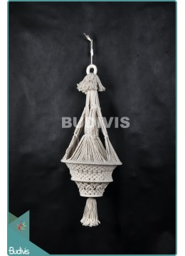 Wholesale Lampshade Chandelier Cotton Rope Hippie Feather Hanging Bohemian Stye In Handmade