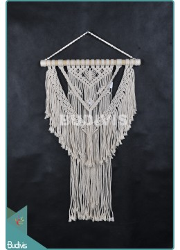 Latest Wall Hanging Macrame Bohemian Stye In The Handmade Living Room