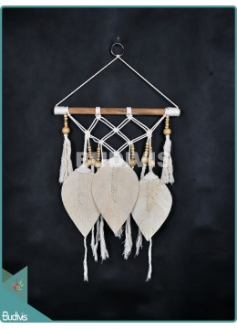 Wholesaler Wall Hanging Hippie Triple Big Feather Bohemian Stye In The Handmade Living Room