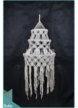 Hot Stye Lampshade Chandelier Cotton Rope Hippie Hanging Bohemian Stye In Handmade