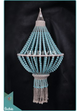 Wholesale Lampshade Hanging Wooden Turquoise Hippie Rope Living Room