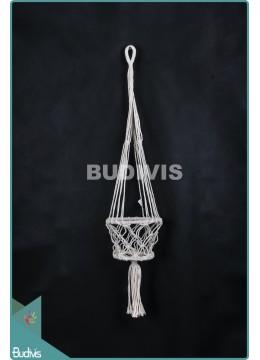 Manufacturer Basket Planter Hippie Rope Hanging Macrame
