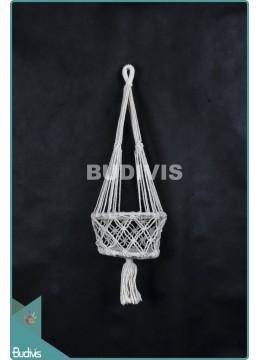 Best Selling Basket Planter Shorter Hippie Rope Hanging Macrame