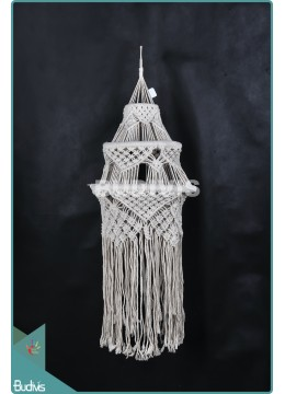 Production Lampshade Chandelier Cotton Rope Hippie Feather Hanging Bohemian Stye In Handmade