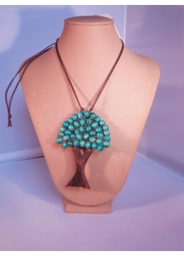 Wood Beads Tree Necklace