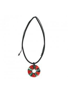 Resin Pendant Seashell Sliding Necklace From Bali
