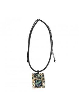 Resin Pendant Seashell Sliding Necklace New!