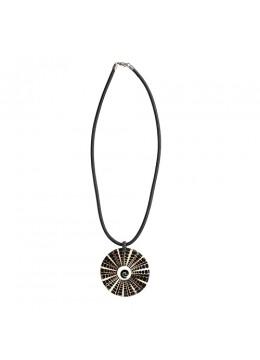 From Bali Resin Pendant Seashell Sliding Necklace New!