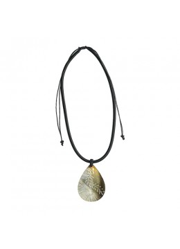 Shell Resin Penden Sliding Necklace From Bali